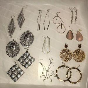 11 pairs of earrings